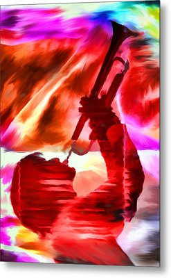 Trumpet Player Metal Print by David Ridley
