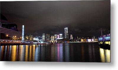 Tsim Sha Tsui - Kowloon At Night Metal Print by Enrique Rueda