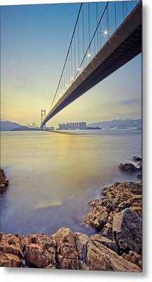 Tsing Ma Bridge Metal Print by Andi Andreas