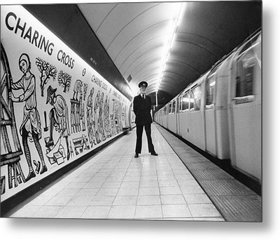 Tube Train Murals Metal Print by Evening Standard