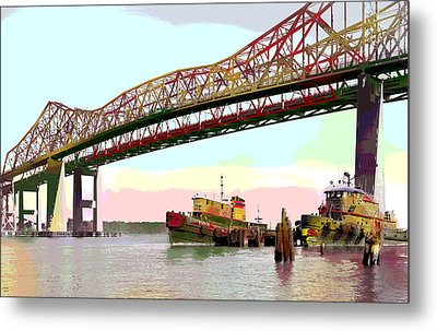 Tugboats Mcallister Metal Print by Charles Shoup