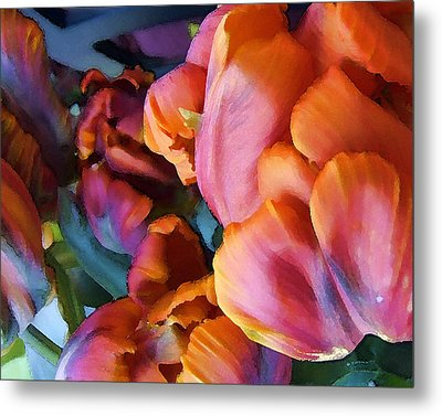 Tulip 01 Metal Print by Ann Bridges