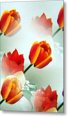 Tulip Abstract Metal Print by Marilyn Hunt