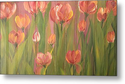 Tulip Field Metal Print by Kathy Sheeran