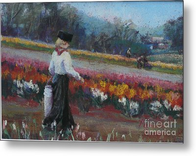 Tulip Heritage Metal Print by Pamela Pretty