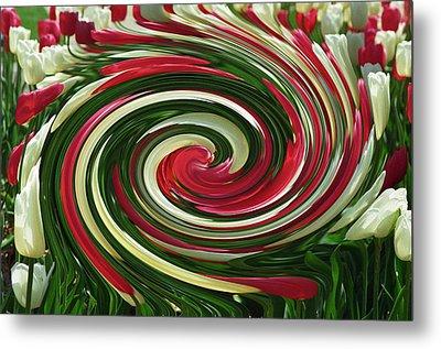 Tulip Tornado Metal Print by Rick Rauzi