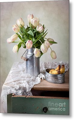 Tulips And Pears Metal Print