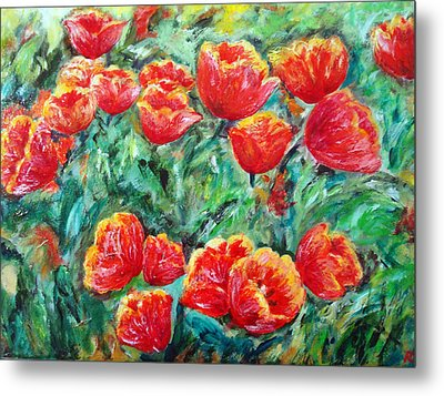 Tulips Expression Metal Print