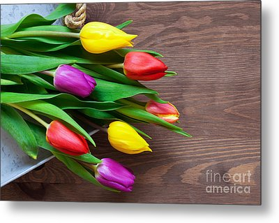 Tulips On The Table Metal Print by Richard Thomas