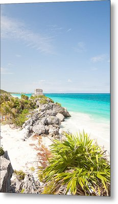 Tulum Mayan Metal Print by Monica and Michael Sweet