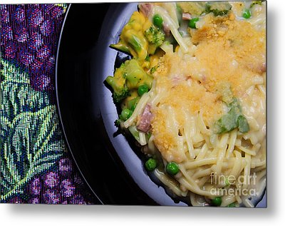 Tuna Noodle Casserole Metal Print by Andee Design