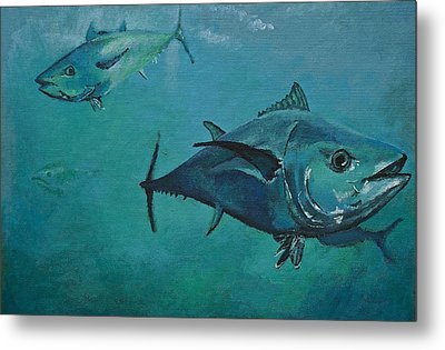 Tuna School Metal Print by Terry Gill