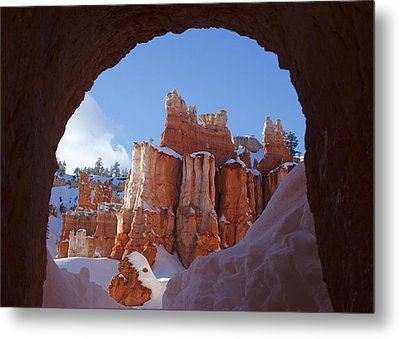 Metal Print featuring the photograph Tunnel In The Rock by Susan Rovira