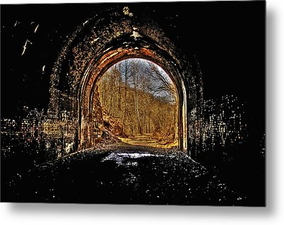 Tunnel Of Gold Metal Print by Shirley Tinkham