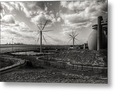 Turbines In Motion Metal Print by Andrew Kubica