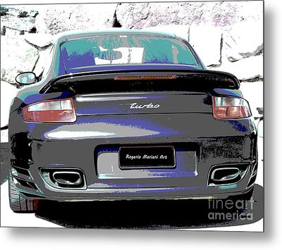 Metal Print featuring the digital art Turbo Propulsion by Rogerio Mariani