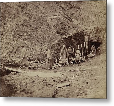 Turkestani Workers Hauling Coal From An Metal Print by Everett