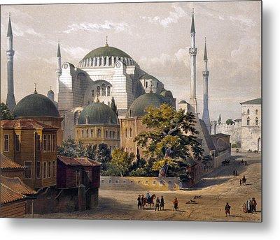 Turkey: Hagia Sophia, 1852 Metal Print by Granger