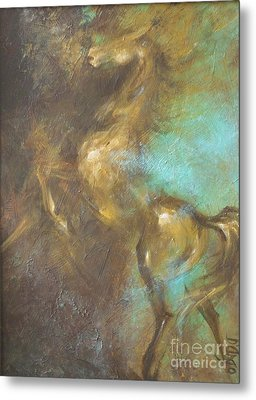 Turquoise Dust 2 Metal Print by Dina Dargo