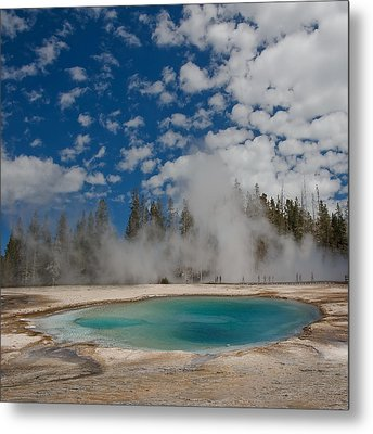 Turquoise Pool Metal Print by Amateur photographer, still learning...