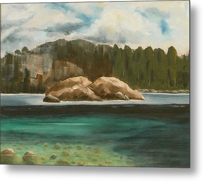 Metal Print featuring the painting Turtle Island by Jo Appleby