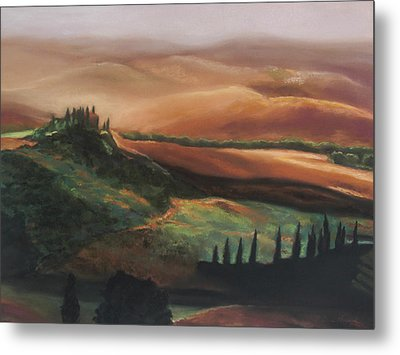 Tuscan Hills Metal Print by Elise Okrend