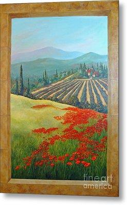 Tuscan Vista Metal Print by Phyllis Howard