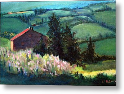 Metal Print featuring the painting Tuscany by Rosemarie Hakim