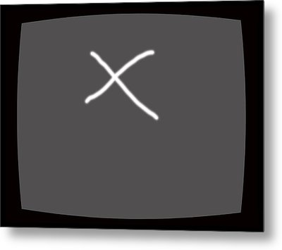 Tv Or Not Tv.... Metal Print by Lenore Senior