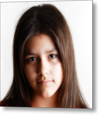 Twelve Year Old Published Author Metal Print by Miguel Capelo