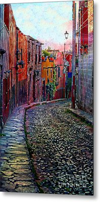 Twilight In San Miguel De Allende Metal Print by John  Kolenberg