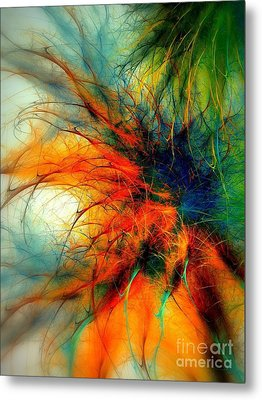 Twilight In The Garden Metal Print
