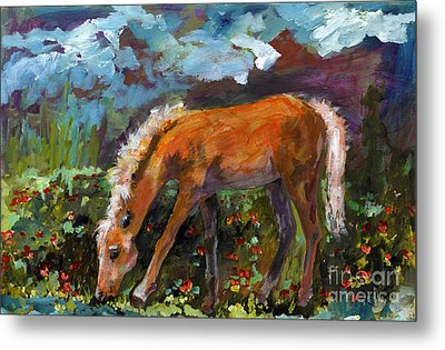 Twilight Pony In Protest Of H.r. 2112 Painting Metal Print by Ginette Callaway