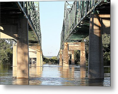 Metal Print featuring the photograph Twin Bridges by Elizabeth Winter