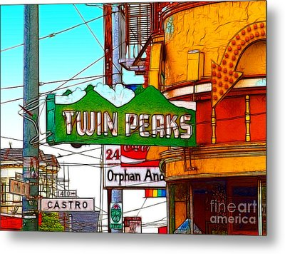 Twin Peaks Bar In San Francisco Metal Print by Wingsdomain Art and Photography