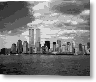 Twin Towers Bw10 Metal Print by Scott Kelley
