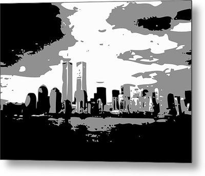 Twin Towers Bw3 Metal Print by Scott Kelley