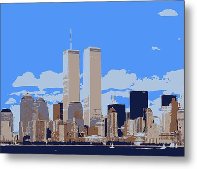 Twin Towers Color 6 Metal Print by Scott Kelley