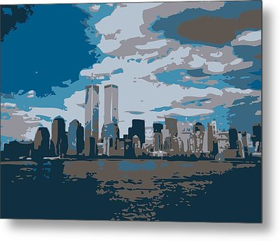 Twin Towers Color 7 Metal Print by Scott Kelley