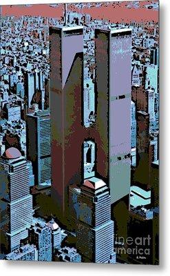 Twin Towers Metal Print by George Pedro