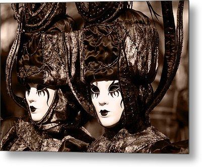Twins In Sepia Metal Print by Simona  Mereu