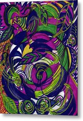 Twirls And Swirls Metal Print by Anne-Elizabeth Whiteway