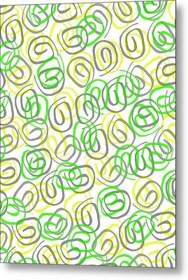 Twirls Metal Print by Louisa Knight