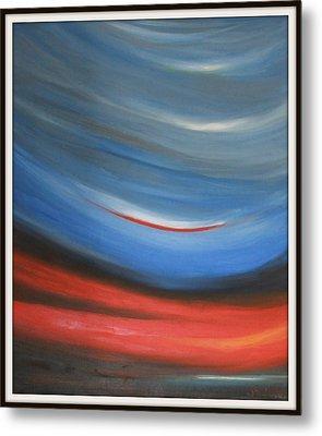 Twisting Sunset Metal Print by Joanna Georghadjis