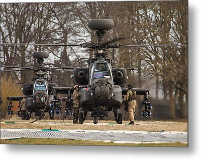 Two Ah64 Apaches Metal Print