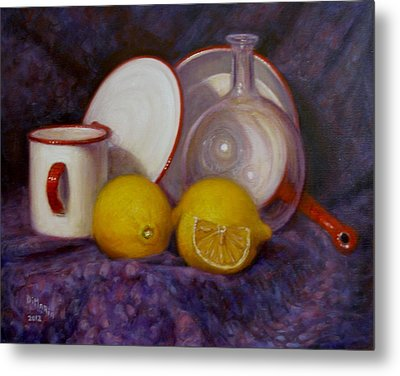 Two And A Half Lemons Metal Print by Donelli  DiMaria