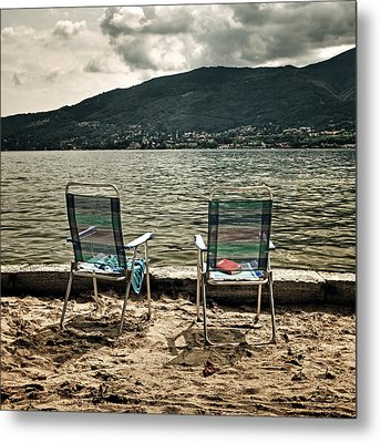 Two Chairs Metal Print by Joana Kruse
