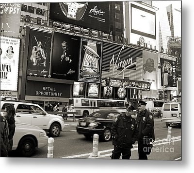 Two Cops On Broadway Metal Print by RicardMN Photography