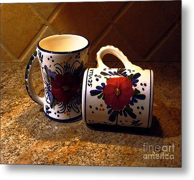 Two Cups Metal Print by Dale   Ford