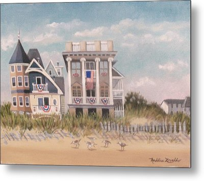 Two Different Houses On The Beach Metal Print